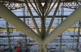 WTTC roof trusses.